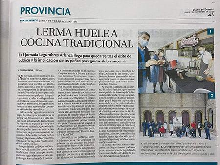 Primera jornada Legumbres Arlanza en Lerma